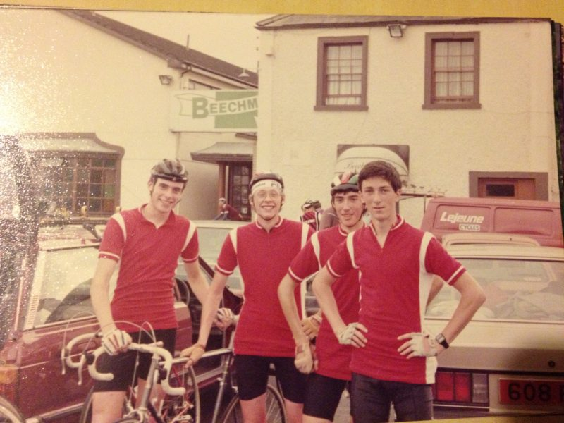 McNally, left, with the Sorrento CC Junior Tour squad. Navan, 1984